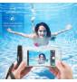 Pochette Etanche Tactile pour Smartphone Eau Plage IPX8 Waterproof Coque (NOIR)