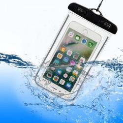Pochette Etanche Tactile pour WIKO Fever Smartphone Eau Plage IPX8 Waterproof Coque (NOIR)