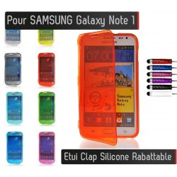 Coque Housse Etui Silicone Clap SAMSUNG Galaxy Note 1