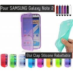 Coque Housse Etui Silicone Clap SAMSUNG Galaxy Note 2