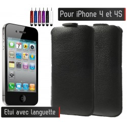 Etui Pull up Noir Iphone 4/4S