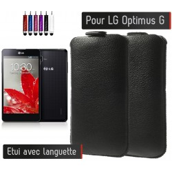 Etui Pull up Noir LG Optimus G