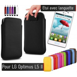 Etui Pull up Noir LG Optimus L5 II