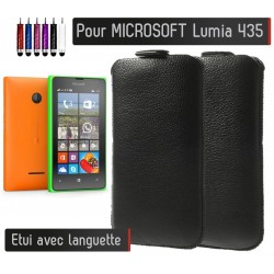 Etui Pull up Noir Microsoft Lumia 435