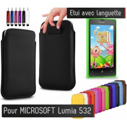 Etui Pull up Noir Microsoft Lumia 532