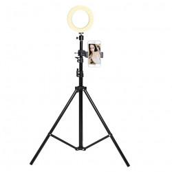 Trepied Telescopique avec Flash pour ZTE AXON MINI Smartphone Réglable Photo Universel (NOIR)