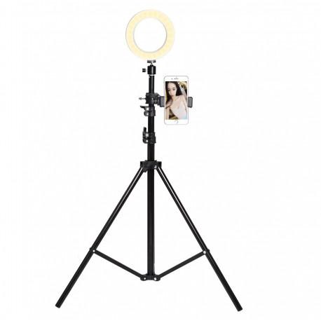 Trepied Telescopique avec Flash pour ZTE Blade V9 Smartphone Réglable Photo Universel (NOIR)
