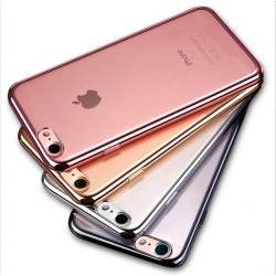 Coque Chrome Silicone IPHONE 7 APPLE Contour Transparente Bumper Protection Gel Souple