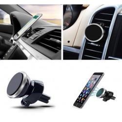 Support Voiture Magnétique pour Smartphone Aimant Noir Ventilateur Universel 360 Rotatif