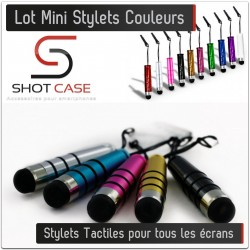 Mini Stylets tactiles couleurs iphone