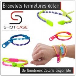 Bracelets fermeture éclair Zip Couleurs