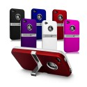 Coque Silver Line Chrome Stand Béquille IPHONE 4/4S Couleurs Housse Etui