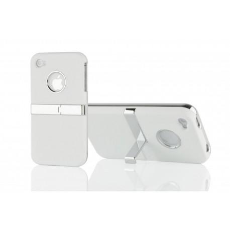 Coque Silver Line Chrome avec béquille stand IPHONE 4/4S Couleurs