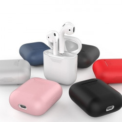 Coque Silicone pour AirPods APPLE Boitier de Charge Grip Housse Protection