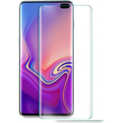 Film Verre Trempe pour SAMSUNG Galaxy S10+ Incurve Ecran Incassable 9H+ Protection 0,26mm Transparent 2,5D