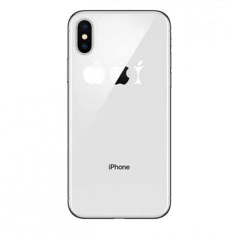 Coque Silicone IPHONE X Trognon de Pomme Fun APPLE Mange Pomme Transparente Protection Gel Souple