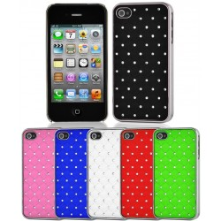 Coque Housse Etui Strass IPHONE 4/4S Couleurs Diamant Cristal