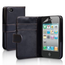 Coque Housse Etui Portefeuille Wallet IPHONE 4/4S Couleurs APPLE