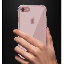 Pack Protection pour IPHONE 8 APPLE (Coque Silicone Anti-Chocs + Film Verre Trempe)