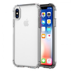 Pack Protection pour IPHONE X Max APPLE (Coque Silicone Anti-Chocs + Film Verre Trempe)