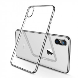 Pack Protection pour IPHONE Xs Max APPLE (Coque Chrome Silicone + Film Verre Trempe)