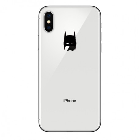 Coque Silicone IPHONE X Batman Fun APPLE Bruce Wayne Tête Pomme Transparente Protection Gel Souple