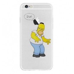 Coque Silicone IPHONE 7 PLUS (+) Homer n°2 Les Simpson APPLE Tombe Tête Pomme Cartoon Protection Gel Souple