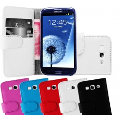 Coque Portefeuille Wallet SAMSUNG Galaxy S3 i9300 Couleurs Housse Etui