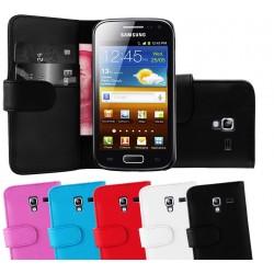 Coque Portefeuille Wallet SAMSUNG Galaxy Ace 2 i8160 Couleurs Housse Etui