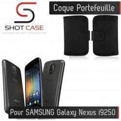 Coque Portefeuille Wallet SAMSUNG Galaxy Nexus Google i9250 Noir Housse Etui