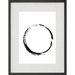 """Cadre Photo """"Cercle"""" 30x40cm avec Passe Partout Tableau Bois Verre"""