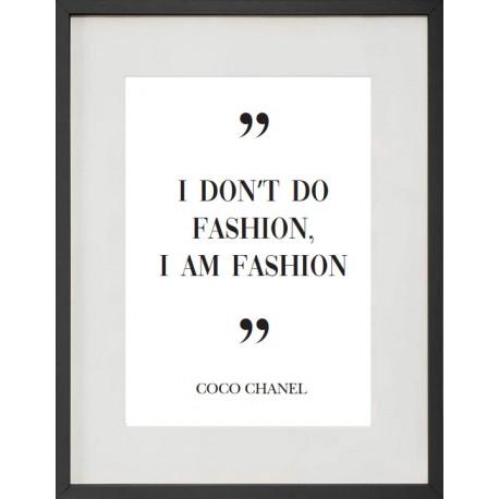 """Cadre Photo """"Coco fashion"""" 30x40cm avec Passe Partout Tableau Bois Verre"""