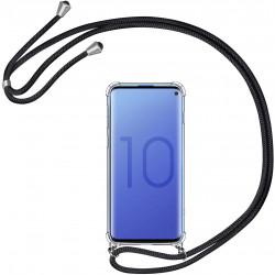 "Coque avec Cordon pour ""SAMSUNG Galaxy S10"" Silicone Airbags Transparente"