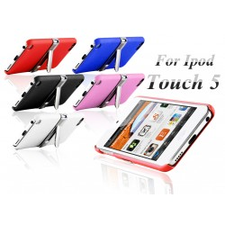 Coque Silver Line Chrome Stand Béquille ITOUCH 5 Couleurs Housse Etui