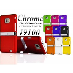 Coque Silver Line Chrome Stand Béquille SAMSUNG S2 i9100 Couleurs Housse Etui