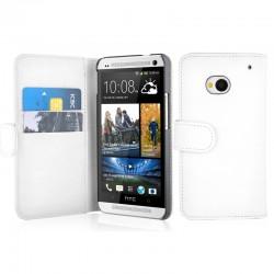 Coque Portefeuille Wallet HTC ONE M7 Couleurs Housse Etui