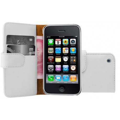 Coque Housse Etui Portefeuille Wallet IPHONE 3/3GS Couleurs APPLE