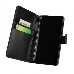 Coque Portefeuille Wallet HTC One S Noir Housse Etui