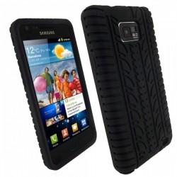 Coque Silicone Pneu Souple SAMSUNG Galaxy S2 Noir Housse Etui