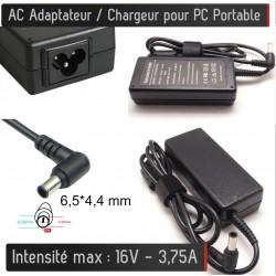 Chargeur Générique pour PC Portable 16V - 3,75A - Embout 6.5*4.4 mm Alimentation AC Adaptateur