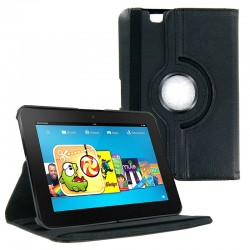 Coque Rotation 360° KINDLE Fire 2 Tablette Simili-Cuir Housse de Protection Etui