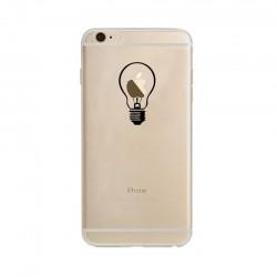 Coque Silicone IPHONE 6/6S Ampoule Transparente Fun APPLE Lumière Idée Pomme Protection Gel Souple