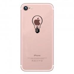 Coque Silicone IPHONE 7 Ampoule Transparente Fun APPLE Lumière Idée Pomme Protection Gel Souple