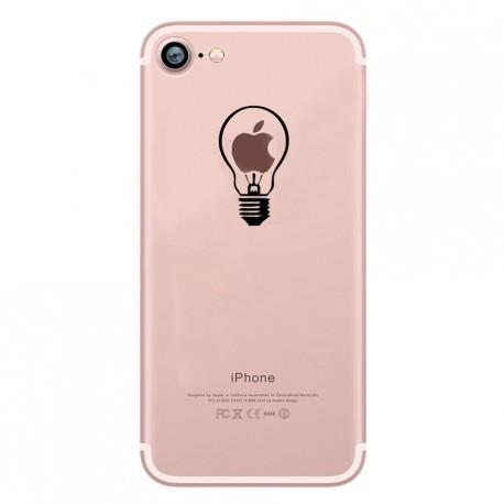 Coque Silicone IPHONE Ampoule Fun APPLE Lumière Idée Pomme Protection Gel Souple