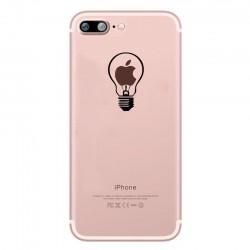 Coque Silicone IPHONE 7 PLUS (+) Ampoule Transparente Fun APPLE Lumière Idée Pomme Protection Gel Souple