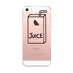 Coque Silicone IPHONE 5/5S/SE Juice Fun APPLE Jus de Pomme Boisson Transparente Protection Gel Souple