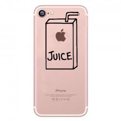 Coque Silicone IPHONE Juice Fun APPLE Jus de Pomme Boisson Transparente Protection Gel Souple