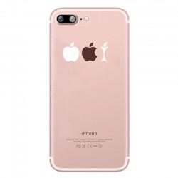 Coque Silicone IPHONE 6/6S Trognon de Pomme Fun APPLE Mange Pomme Musique Transparente Protection Gel Souple