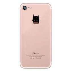 Coque Silicone IPHONE 7 Batman Fun APPLE Bruce Wayne Tête Pomme Transparente Protection Gel Souple