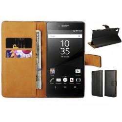 Coque Portefeuille Sony Xperia Z5 Prenium Housse Etui Cartes Billets